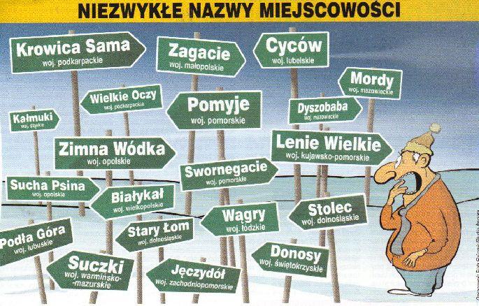 Nazwy klubów i miejscowości które powalają na kolana.