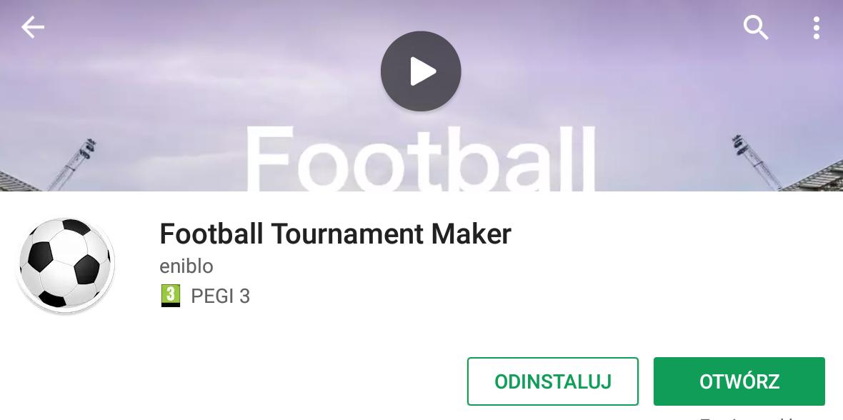 Aplikacja do organizacji turniejów piłki nożnej. #dlaTrenera